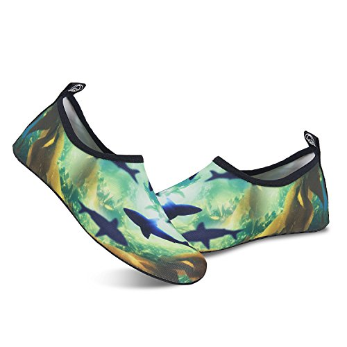 Swim Yoga Diving Exercise Beach Surfing IceUnicorn Skin Shark Running Barefoot Snorkeling Shoes for Shoes Womens Mens Outdoor Socks Water ZXaqf