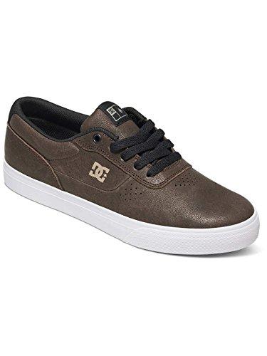DC Shoes - Zapatillas de Deporte de Otra Piel Hombre Noir - Brown/Black