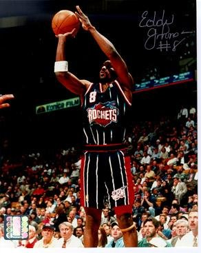 1c63226c8142e Signed Eddie Johnson Picture - Houston Rockets 8x10 - Autographed ...