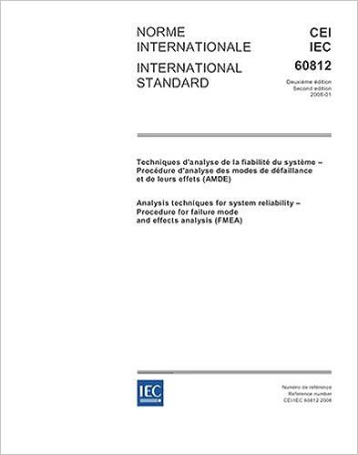 Amazon.com: IEC 60812 Ed. 2.0 b:2006, Analysis techniques for ...