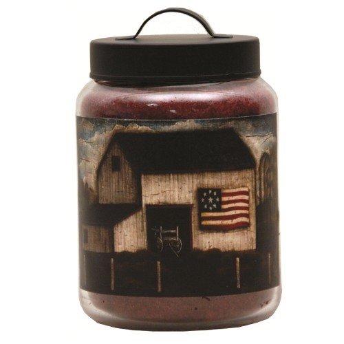 Goose Creek 64-Ounce Apple Spice Jar Candle with Mcarthurs Farm Folk Art