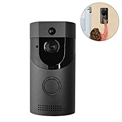 Wifi Video Smart Doorbell 720p B30 Hd Security Camera Two Way Audio Night Vision Monitor Surveillance Recording Cameras Motion Detection Smartphone Remote Control Ultra 170 Wide Angle Office Home
