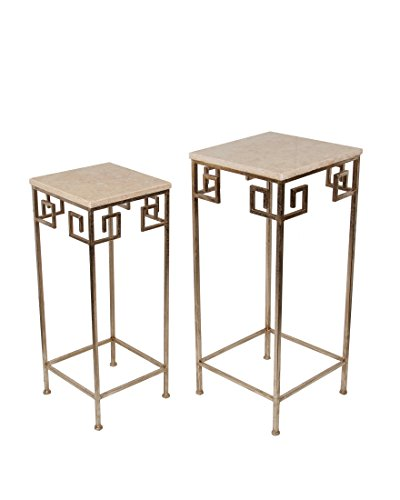 Privilege 18832 2 Piece Marble Accent Table by Privilege
