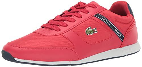 (Lacoste Men's MENERVA Sneaker red/Navy 11.5 Medium US)