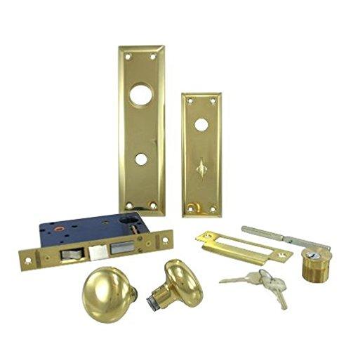 Left Hand Entry Mortise Lockset With Deadbolt