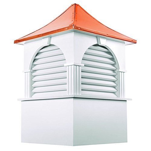 Good Directions Farmington Vinyl Cupola with Copper Roof, 26'' x 39'' by Good Directions