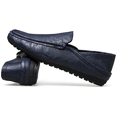 Hombres Casuales Zapatos Sin Azul para Zapatos De para Cordones Hombres Guisantes De Zapatos Conducción Wealsex SBqg85