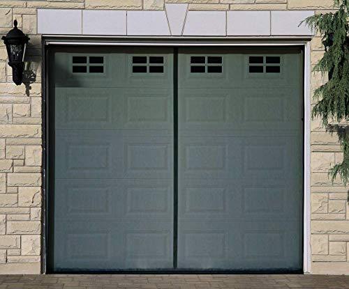 (Magnetic Garage Screen Door for Single Garage Doors 8x7FT- Reinforced Fiberglass Door Screen Curtain for Garage Door,Hands Free Magnetic Screen Door)