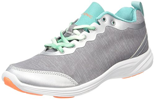 Vionic with Orthaheel Technology Womens Fyn Lace Up Sneaker Light Grey Size 9