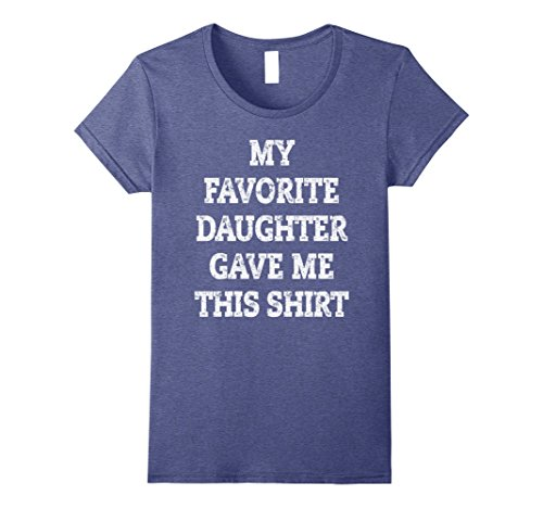 Womens Christmas Gift For Dad From Daughter To Father Bday Gift Tee Medium Heather Blue (Mom Bday Gift)