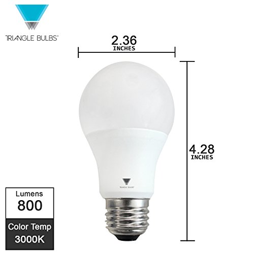 Triangle Bulbs T95133, LED 60 Watt Equivalent A19 Soft White (3000K) Standard Light Bulb, 12 Pack
