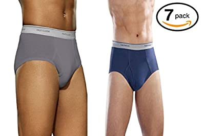 Fruit of the Loom Men's 7-Pack Basic Brief (XX-Large, Blue-Grey)