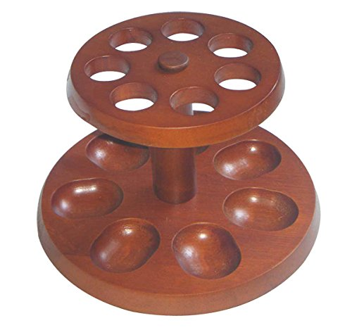 The Big Easy Tobacco Co. Accessories, Round Pipe Stand, Walnut Finish, Fits 7 Pipes