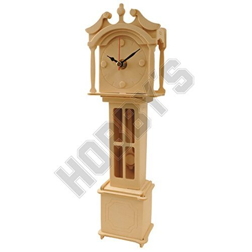 Grandfather Clock Kits - Grand Father Clock: Wood Craft Assembly Wooden Construction Clock Kit