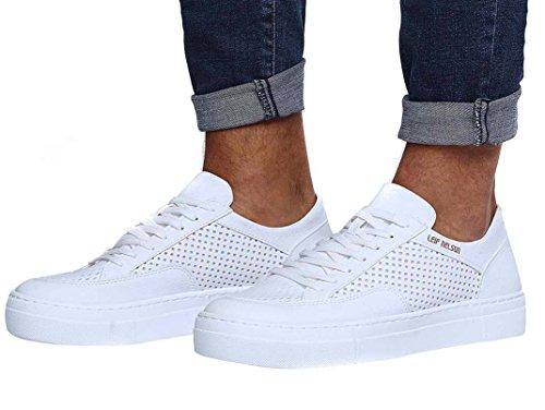 uomo LN154 LEIF Bianco Sneaker NELSON qxTzTpt
