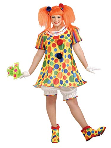 Plus Size Clown Halloween Costumes (Forum Giggles The Clown Costume,  Multicolor , Plus)