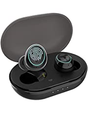 [Upgraded Version] TRANYA B530 Bluetooth 5.0 Deep Bass True Wireless Earbuds, Aptx Compatible Sports Wireless Headphone with CVC8.0 Noise Cancellation, 64 Hours Playtime with Charging Case