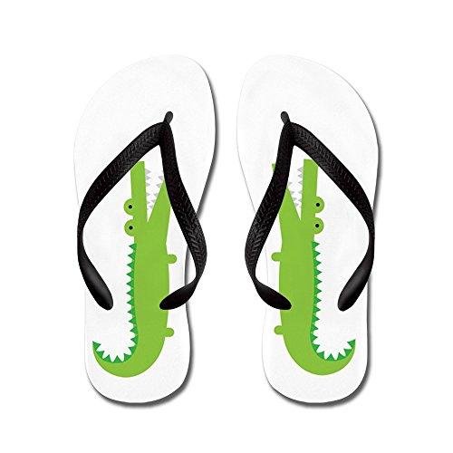 Cafepress Alligator - Flip Flops, Grappige String Sandalen, Strand Sandalen Zwart