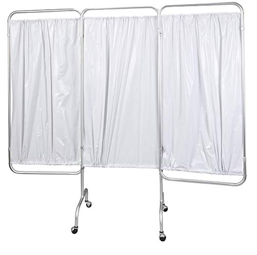 Medical Privacy Screen Curtain Panels 3 Room Divider Folding Partition Rolling Portable Wheels Hospital Care