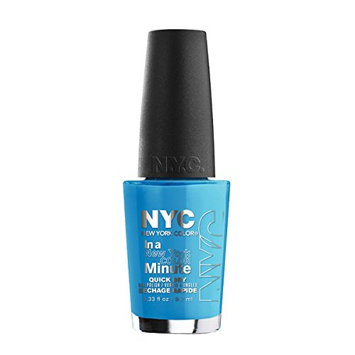 N.Y.C. New York Color Minute Nail Enamel, NY Blues, 0.33 Fluid - Outlet Stores Nyc Manhattan