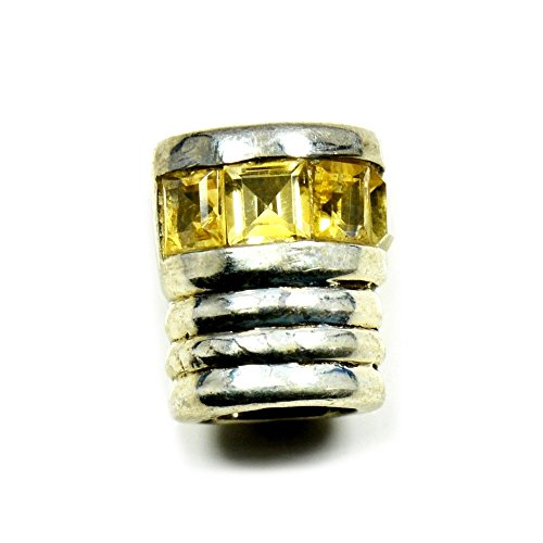 - Gemsonclick Natural Citrine Pendant Princess Cut Sterling Silver Handcrafted Charms for Women Casual Wear