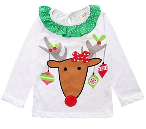 2pcs kids baby girls christmas - Girls Christmas Shirts