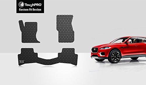 ToughPRO Jaguar F-pace Floor Mats Set - All Weather- Heavy Duty - Black Rubber - 2016-2017-2018 by ToughPRO