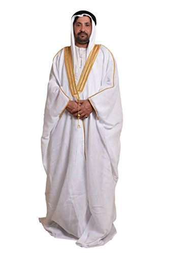 Al Aseel Amazing Mens Islamic Arabian Cloak Bisht Thobe Eid -