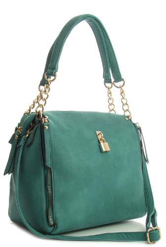 Big Handbag Shop - Bolso de asas de sintético para mujer One azul - turquesa