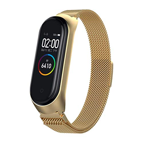 Sodoop New Bracelet for Xiaomi Mi Band 4, Classics Stainless Steel Milanese Loop with Magnetic Clasp Replacement Wristband Strap for Xiaomi Mi Band 4 Smart Watch,170-180mm,Women/Men