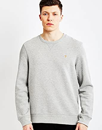 Farah Sweatshirt For Men - Grey, Size Medium