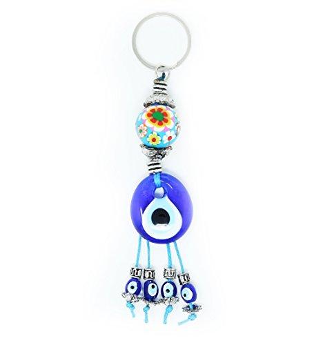 Evil Eye Keychain for Women & Men Key Rings Protection Lucky Charm