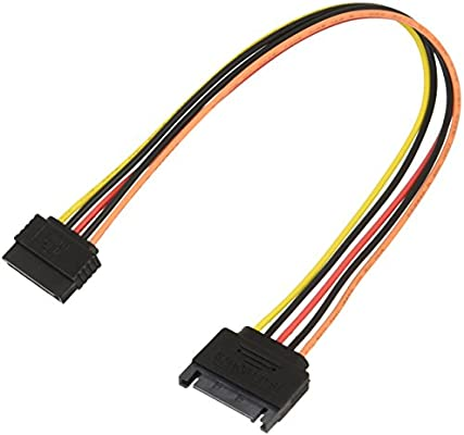 "12/"" Serial ATA Power Extension Cable SATA 15 pin to 15 pin PC Computer SSD//HDD"