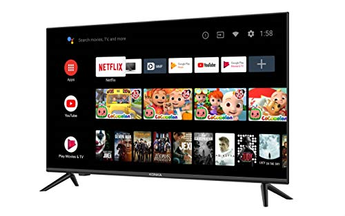 Konka 32-Inch Class H3 Series 720p Smart HD TV with Android TV and Voice Remote (32H31A, 2020 Model)