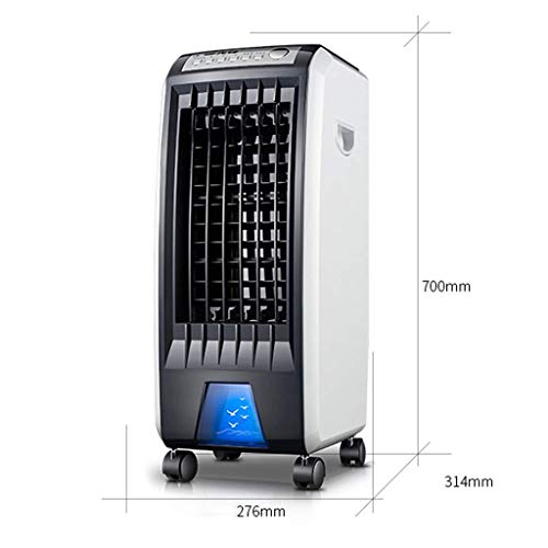 DEE Home Living Room Bedroom Fan-Fan Silent Cooling Super Wind Industrial 3-in-1 Remote Control Air-Conditioning Humidifier and Air Purifier Function, 3 Speeds with Oscillation, Water Tank 5L, 7.5 Ho