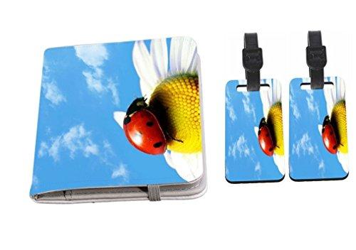 Rikki Knight Summer Ladybug Passport Holder + Luggage Identifier Tags by Rikki Knight
