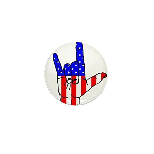 CafePress - I Love USA Sign Language Hand - 1