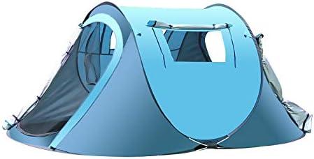 Festivales y Vacaciones thematys Tienda de campa/ña Ligera Pop Up Tienda de campa/ña en Amarillo y Azul con Bolsa de Transporte Acampar