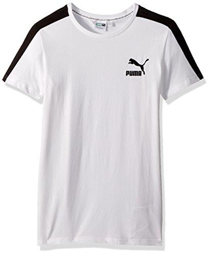 PUMA Men's Archive T7 Stripe T-Shirt, White/Black, XXL