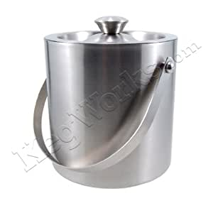 "Stainless Steel Ice Bucket - 1 1/2 qt. - 6"" High"
