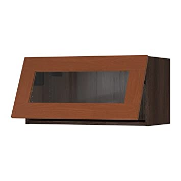 Amazon Ikea Horizontal Wall Cabinetglass Door Brown Grimslv
