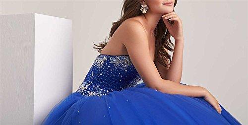 16 Doux Femmes Dexin Perles Robes De Soirée De Noël Bleu Long