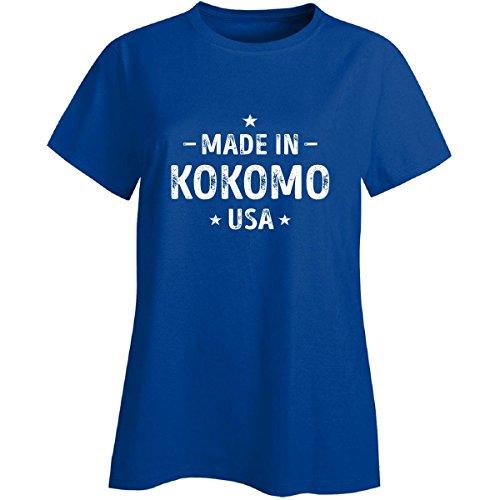 Made In Kokomo City, Usa. Cool Gift - Ladies T-shirt Royal M (City Of Kokomo Jobs)