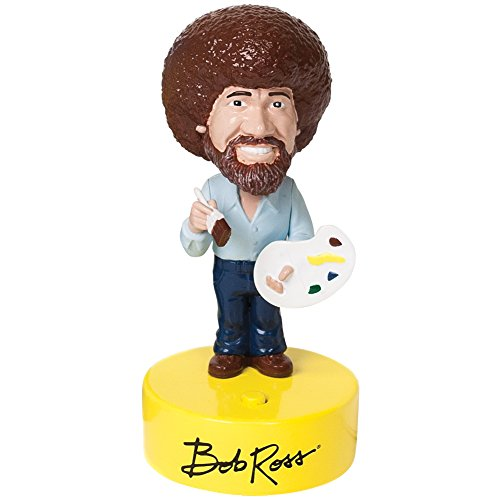 Bob Ross Bobber Bobblehead Toy Figure w/ Sound Plays 10 Wise & Witty Sayings Smith Bobble Head