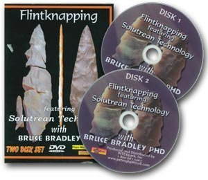Flintknapping Solutrean Technology -2 Disc DVD-Bruce Bradley