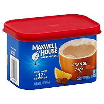 Maxwell House International Coffee Orange Café, 9.3-Ounce Cans (Pack of -