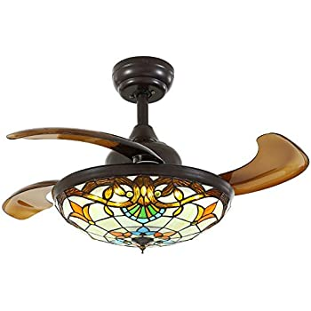 Moooni 36 Quot Mediterranean Style Ceiling Fans With Light And