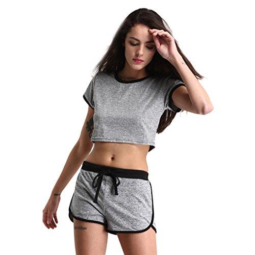 yoga casuale Grigio pantaloncini del sciolto Reasoncool Estate Ms vestito sport Fitness FxwqnfHIg