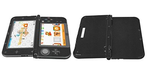 Skinomi® TechSkin - New Nintendo 3DS XL Screen Protector (2015) + Carbon Fiber Full Body Skin w/ / Front & Back Clear Film / Ultra HD & Anti-Bubble Shield (Nintendo 3DS LL Version)