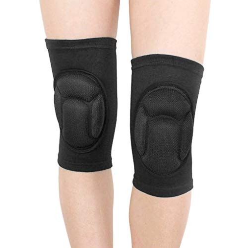 Protective Knee Pads Thick Sponge Anti-Slip Collision Avoidance Knee Sleeve 1 Pair Compression Knee Brace High Elastic Sports Protective Gear for Riding Skating Fitness Exercise or Work - Pain-relief